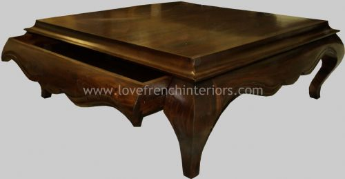 Coffee Table with Hidden Drawer